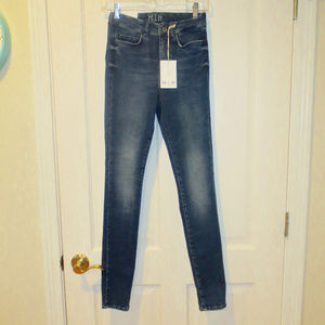 NWT MiH High Rise Bodycon Skinny Jeans 27  New